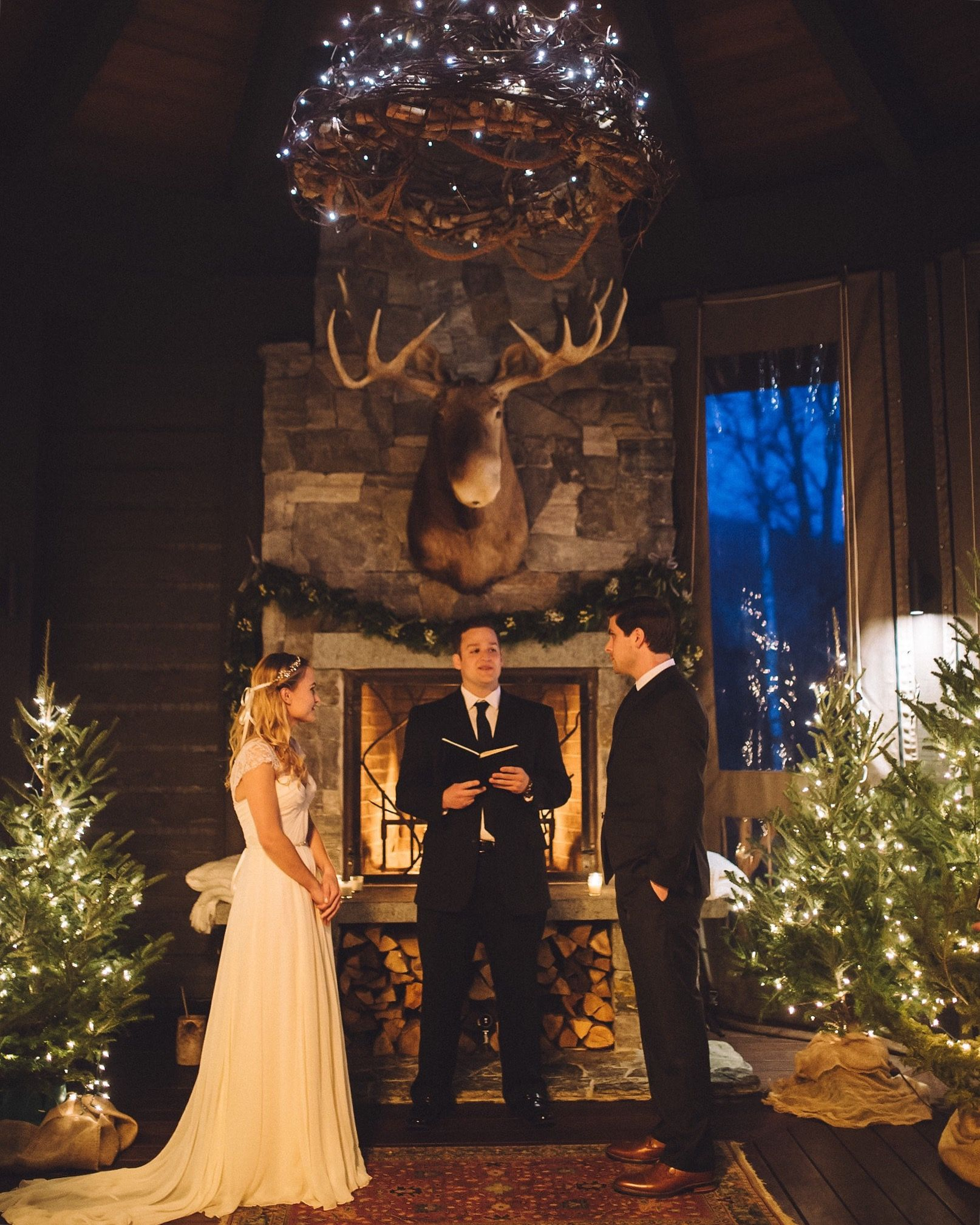 Lake Placid Lodge Winter Wedding Venue. Relais Chateaux.
