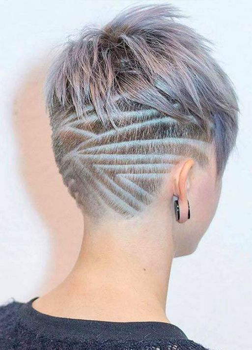 undercut design for short hair