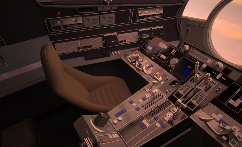Screen Accurate Millennium Falcon Cockpit Cg Model Millennium Falcon Cockpit Falcon