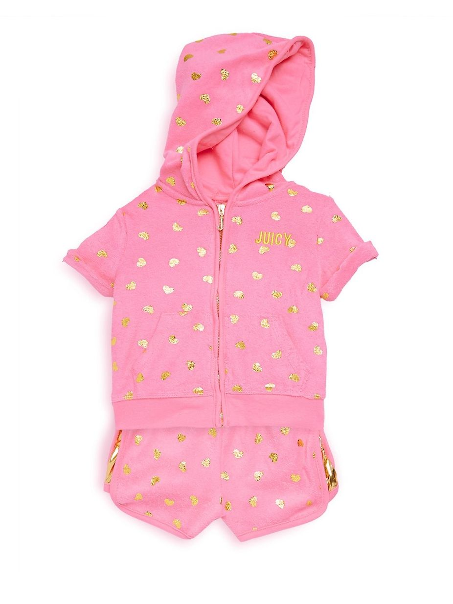 Juicy Couture Baby s Two-Piece Heart Hoodie and Shorts Set ... 8407e6eab