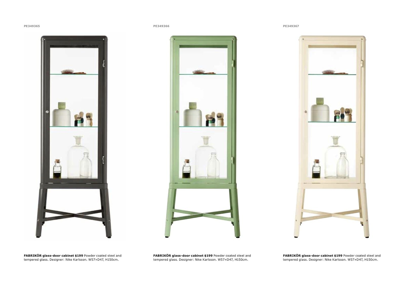 Paper Parade Co Bathroom Nook Home Furniture Glass Cabinet Doors Ikea New [ jpg ]