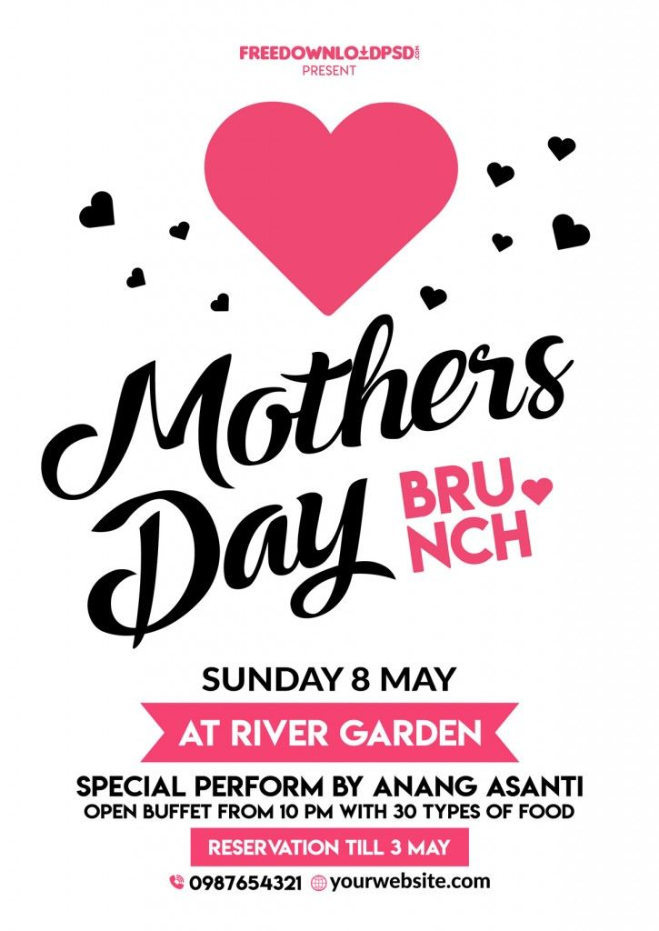 mothers day flyer template free creative genie pinterest flyer