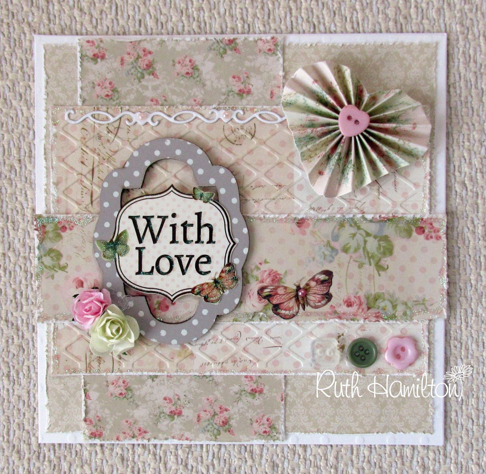 A Passion For Cards Dovecraft Floral Muse With Love Card