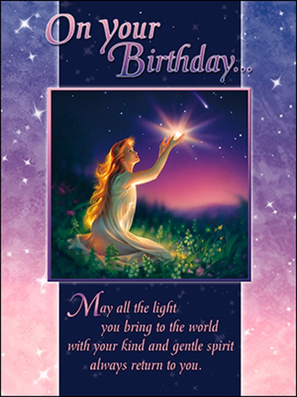 Birthday card wishing you a bright and happy year ahead