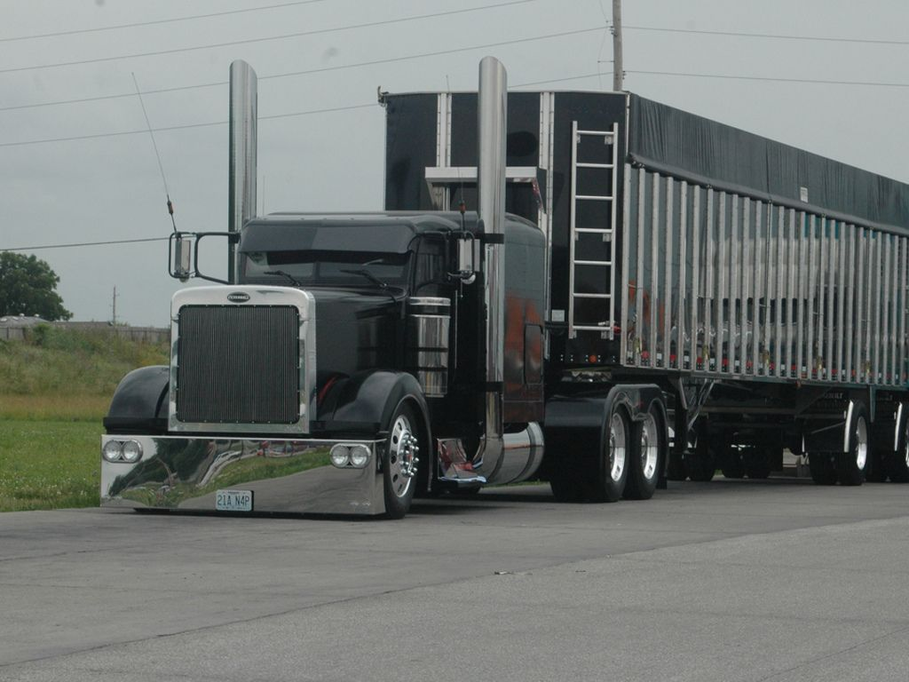 Pics Of Custom Semis Free Lowrider Custom Black Truck
