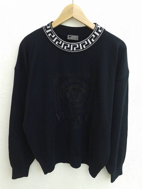 9d24aa1b46 Vintage 90s Gianni Versace Jeans Couture Embroidered Medusa ...