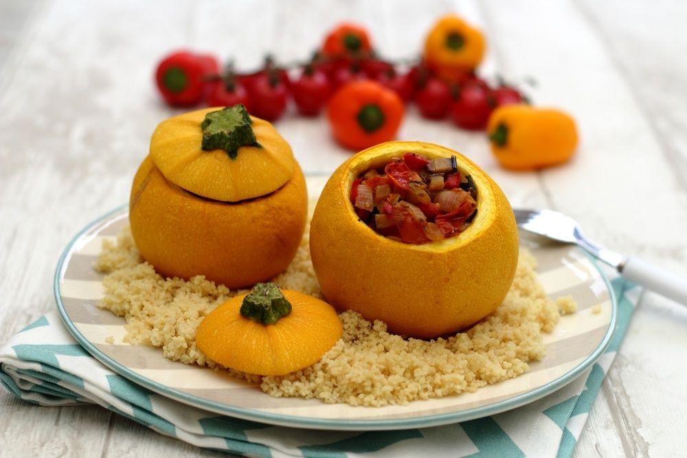 Courgettes farcies aux légumes du soleil | Courgettes ...