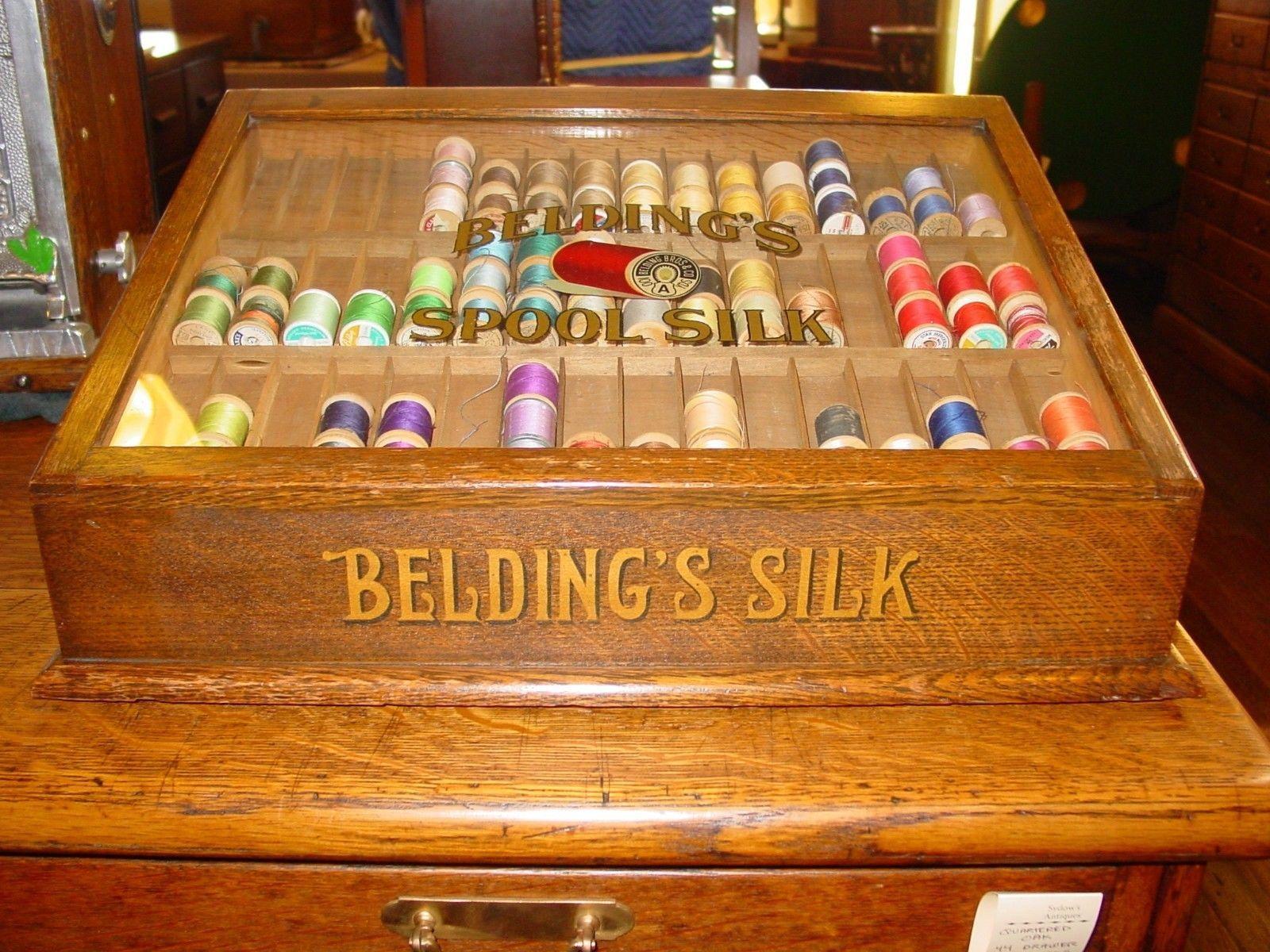 Dmc Thread Cabinet Antique J P Coats Spool Thread Cabinet Table Top 6 Cord Coats
