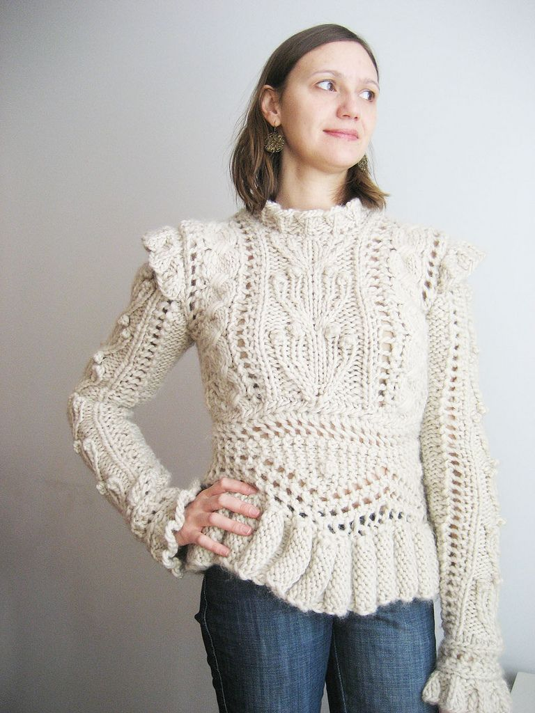 My Knitted Armor, pattern by James Coviello, Vogue Knitting Winter ...