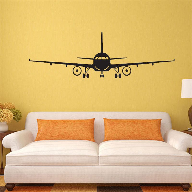Hot Airplane Removable Vinyl Decal Decor Art Waterproof Mural for ...