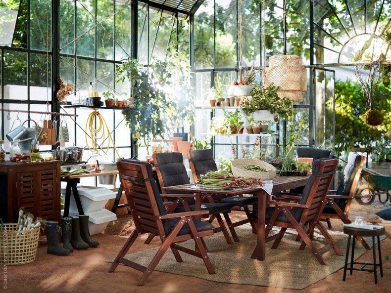 utem blerna pplar i massivt akaciatr passar p s v l terrass altan och i v xthuset bjud in. Black Bedroom Furniture Sets. Home Design Ideas