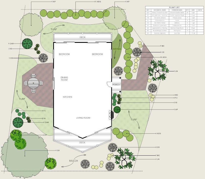 Residential Landscape with Walkway | Landscape plans ...