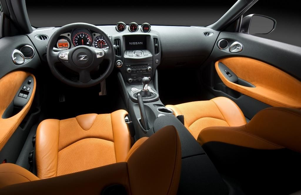 Nissan 370z Grey With Orange And Black Interior Seats Door Panels