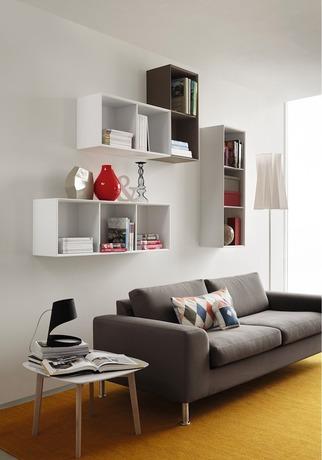 Inside 3 Unit Horizontal Wall Shelf Living Room Wall Units Calligaris Home