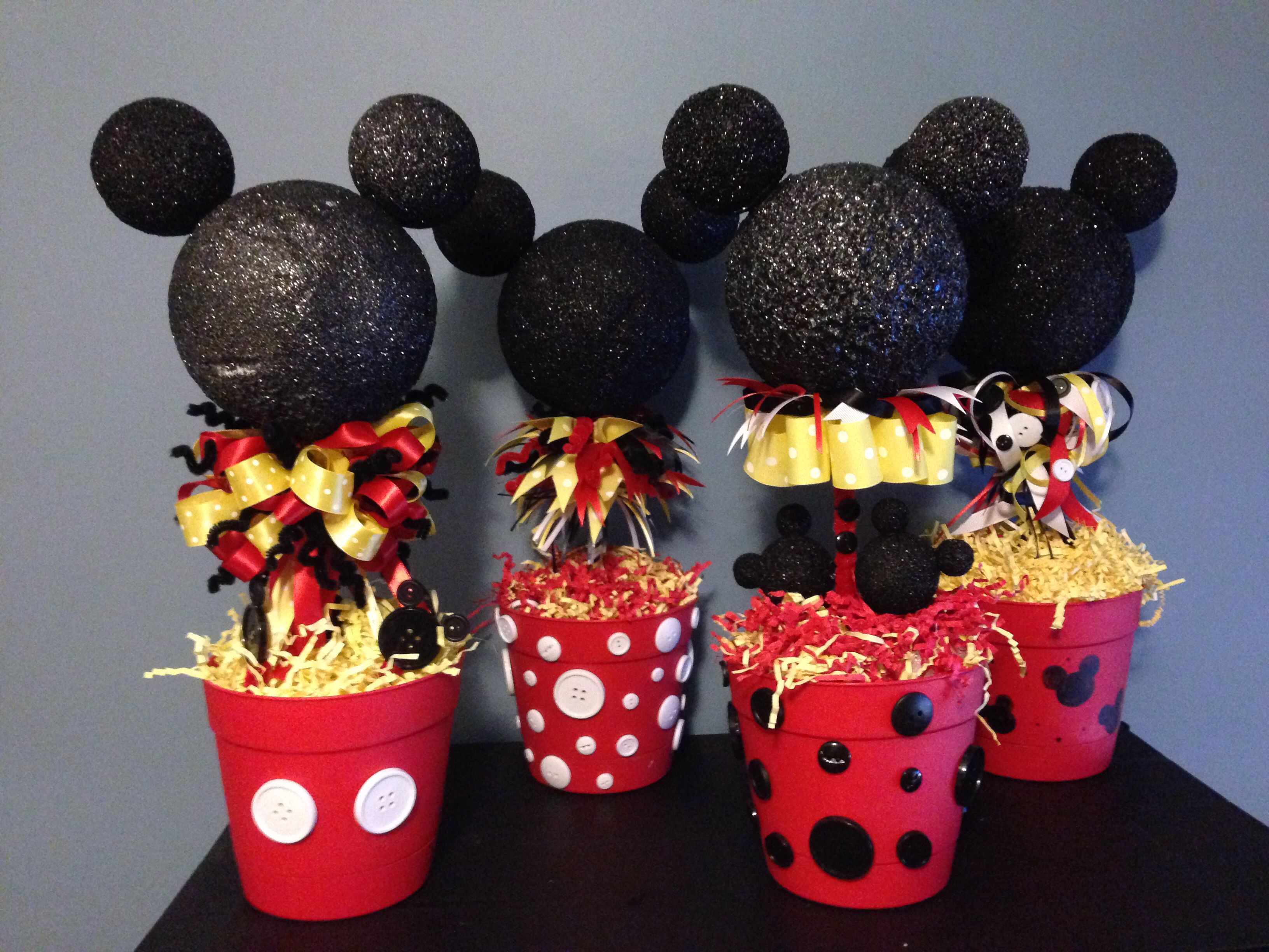 Mickey Mouse centerpieces Mickey party Pinterest