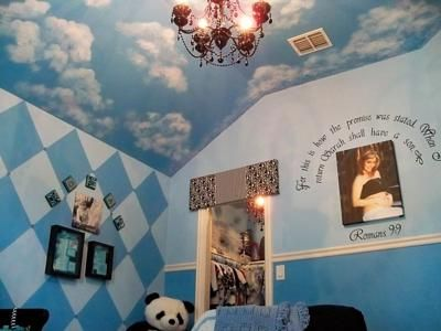 CLOUD MURAL INSTRUCTIONS First the nursery ceiling is painted a ...