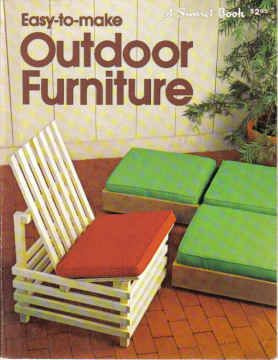 Sunset Easy To Make Outdoor Furniture Book   1979 Vintage Retro Exterior  Picnic BBQ Design Furniture Making   Modern Designs By FunkyKoala On Etsy