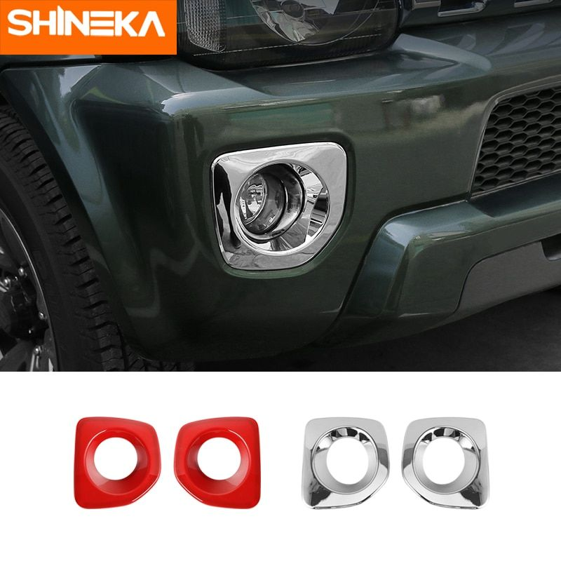 Red Abs Front Fog Lamp Frame Covers For Suzuki Jimny 2012