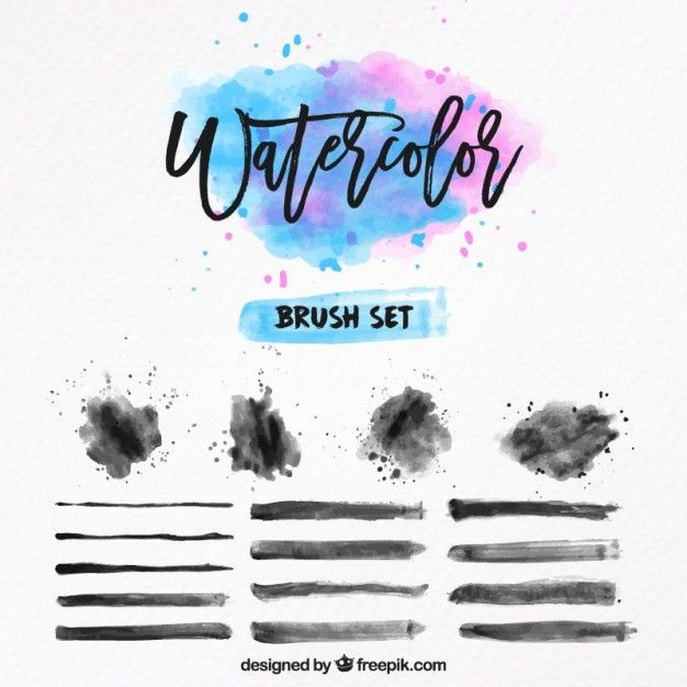 Download Watercolor Brush Set For Free Watercolor Brushes