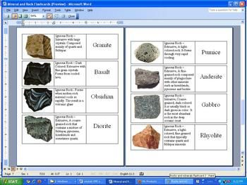 Science Olympiad Rocks And Minerals Worksheet on Science Olympiad Rocks And Minerals Worksheet