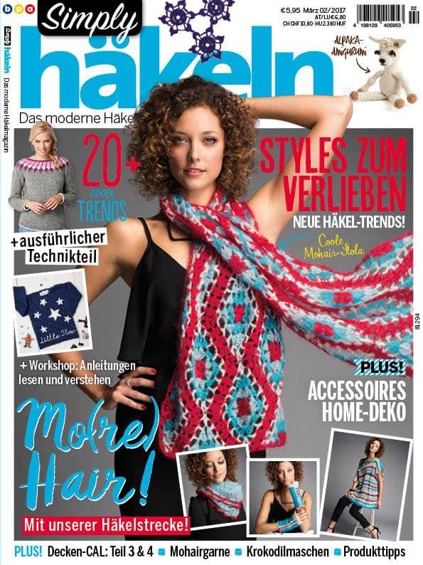 Simply Häkeln 022017 Crochetknit Pinterest Crochet Magazine