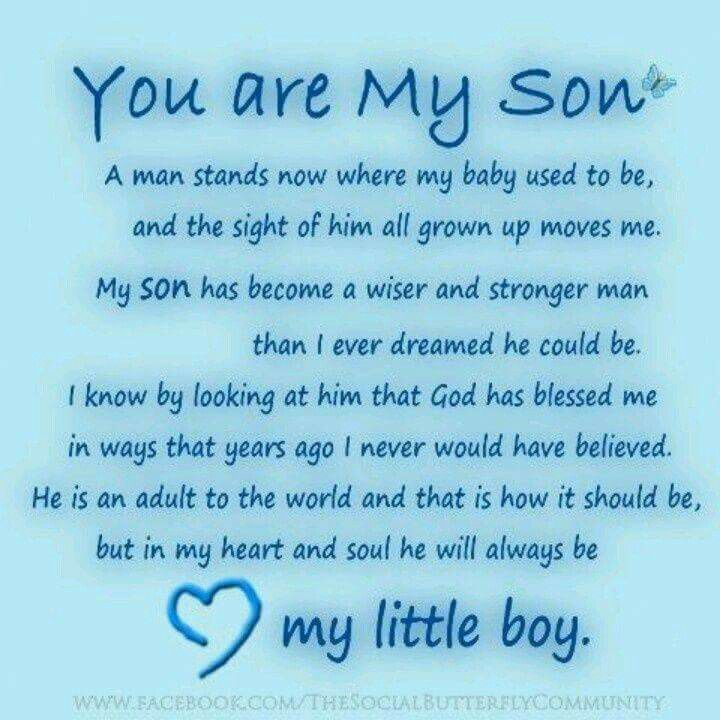 You are My Son   Mother and Son's Quotes   Mother son quotes