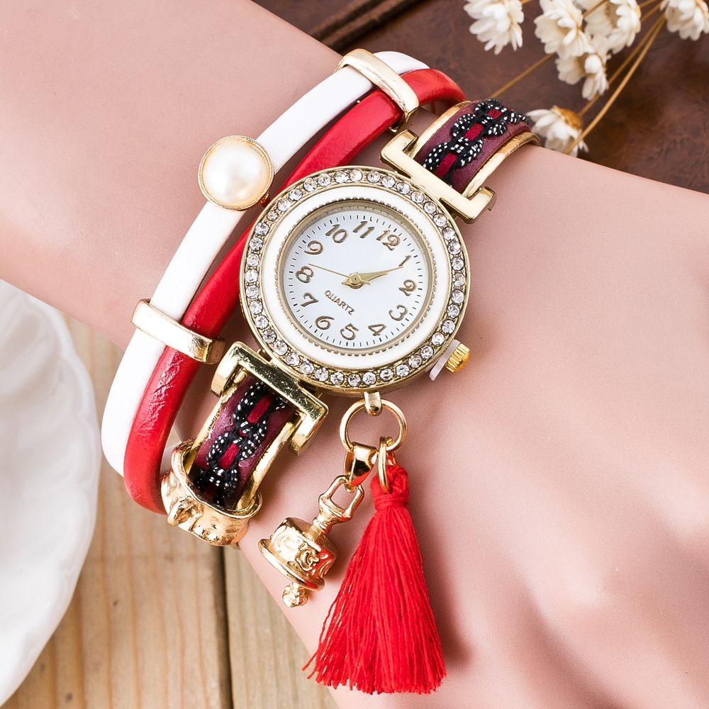 2017 New fashion ladies girl Bracelet Watch Leather Strap casual ...