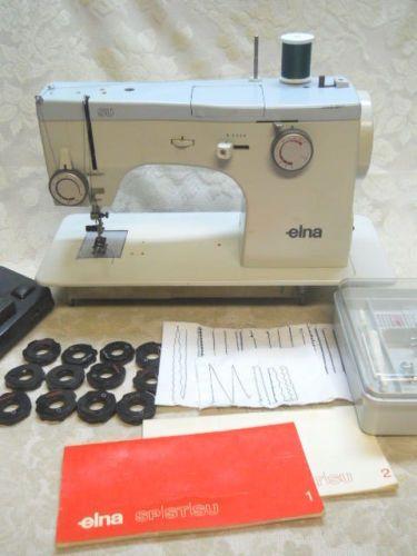 VintageElnaSUFlatBedSewingMachinewInstructions40Cams Impressive Elna Su Sewing Machine