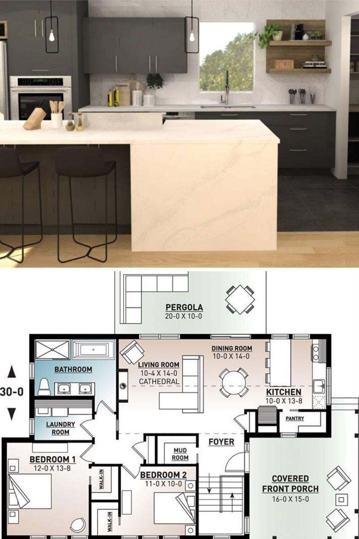 Single Story 9 Bedroom Bergen Scandinavian Home Floor Plan ...