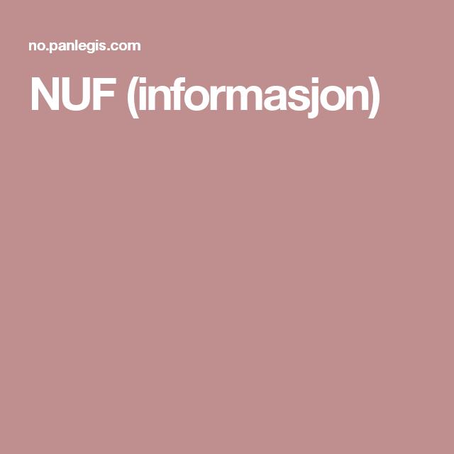 NUF (informasjon)