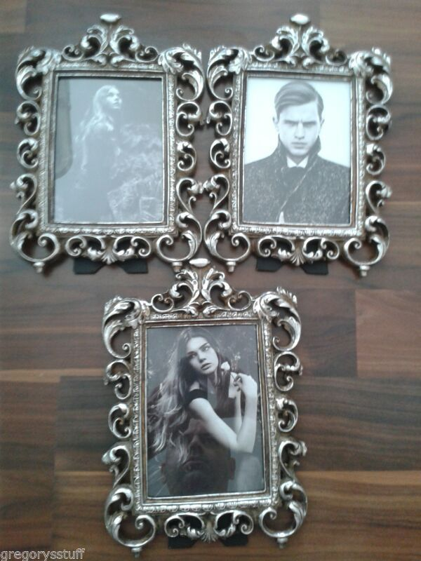 3 PICTURE FRAMES BRAND NEW DECORATIVE WOOD PAINTED LIKE METAL 16.5cm ...