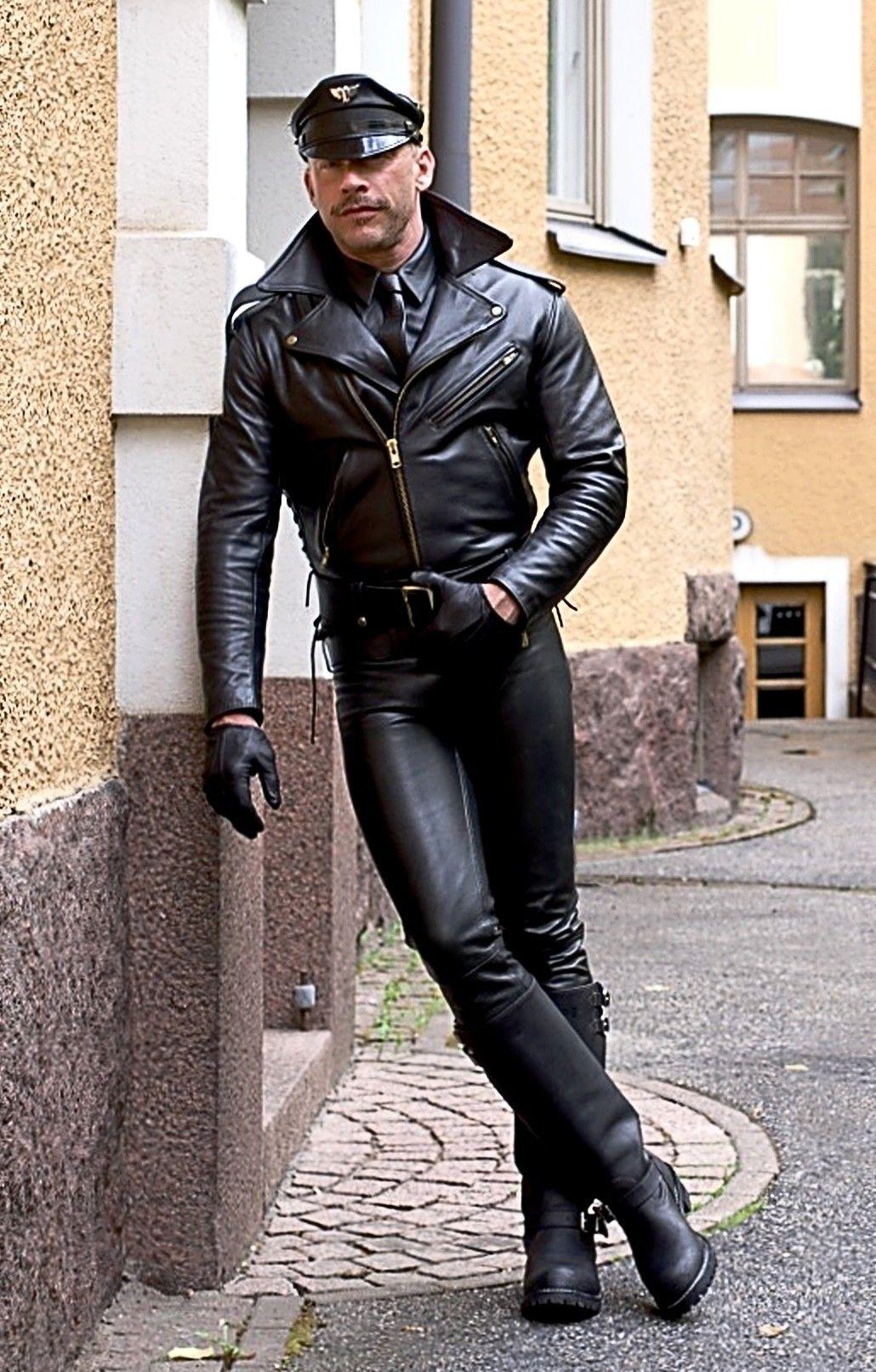 Bootssoldaten Leatherlawman The Boys Got Short Leather Jacket Men Leather Outfit Mens Leather Boots [ 1612 x 1030 Pixel ]