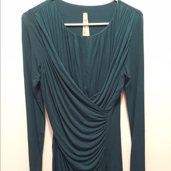 Bailey 44 Top Beautiful turquoise draped top! Note* Small mark on bottom of top that's not really noticeable as the inside tag is a little messed up but other than that shirt is in great condition! Bailey 44 Tops