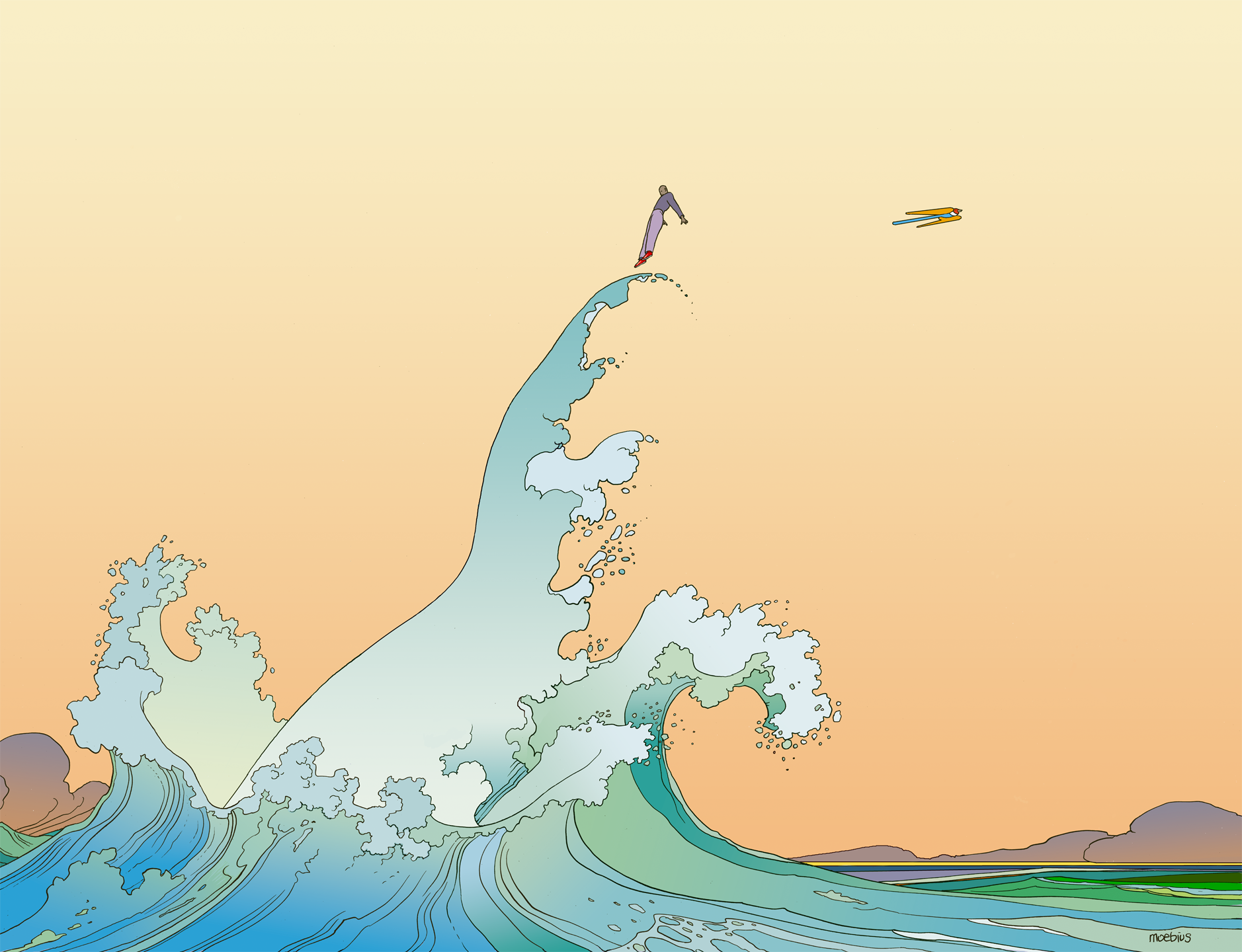 Here´s some Moebius wallpapers for ya - Album on Imgur