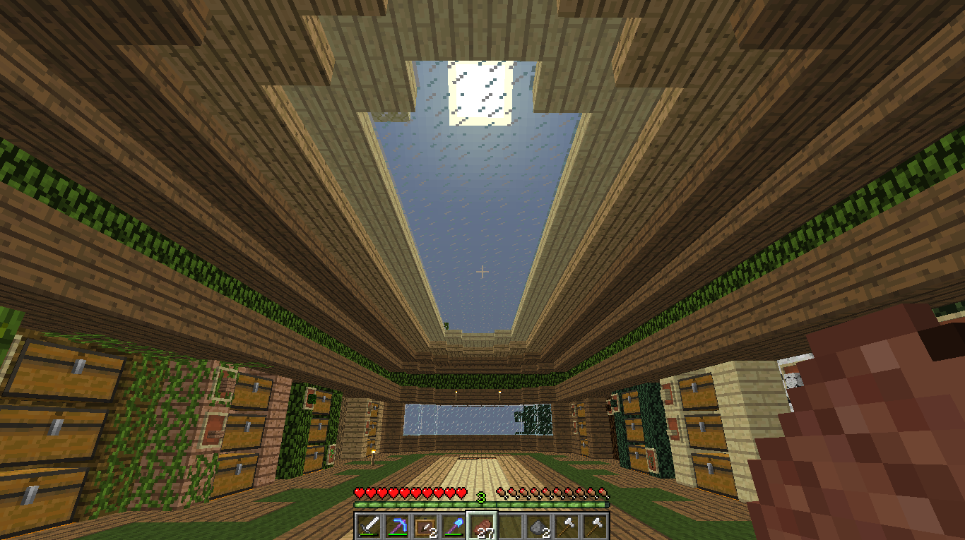Finished My Wood Storage Room For Now Minecraft Storage Room Minecraft Storage Minecraft Blueprints