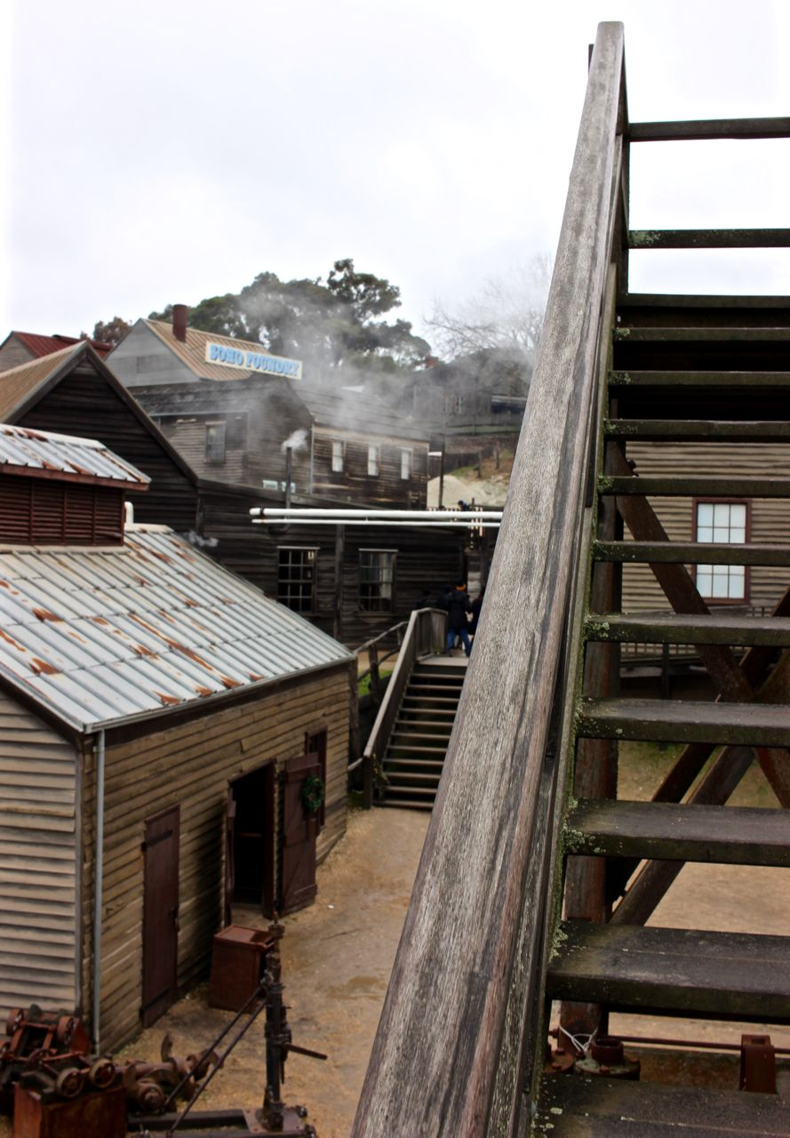 Sovereign Hill is an open air museum in Golden Point, a