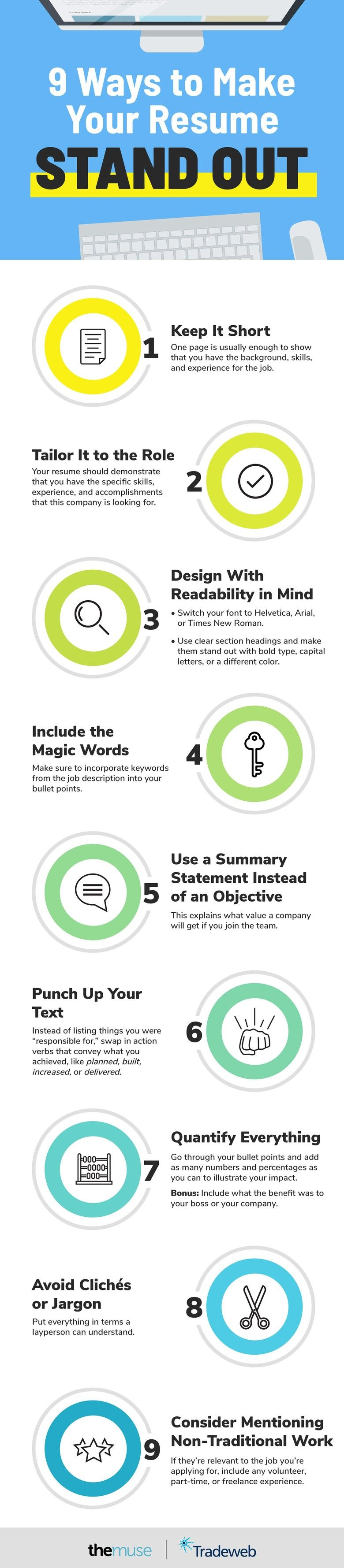 9 ways to make your resume stand out from the crowd