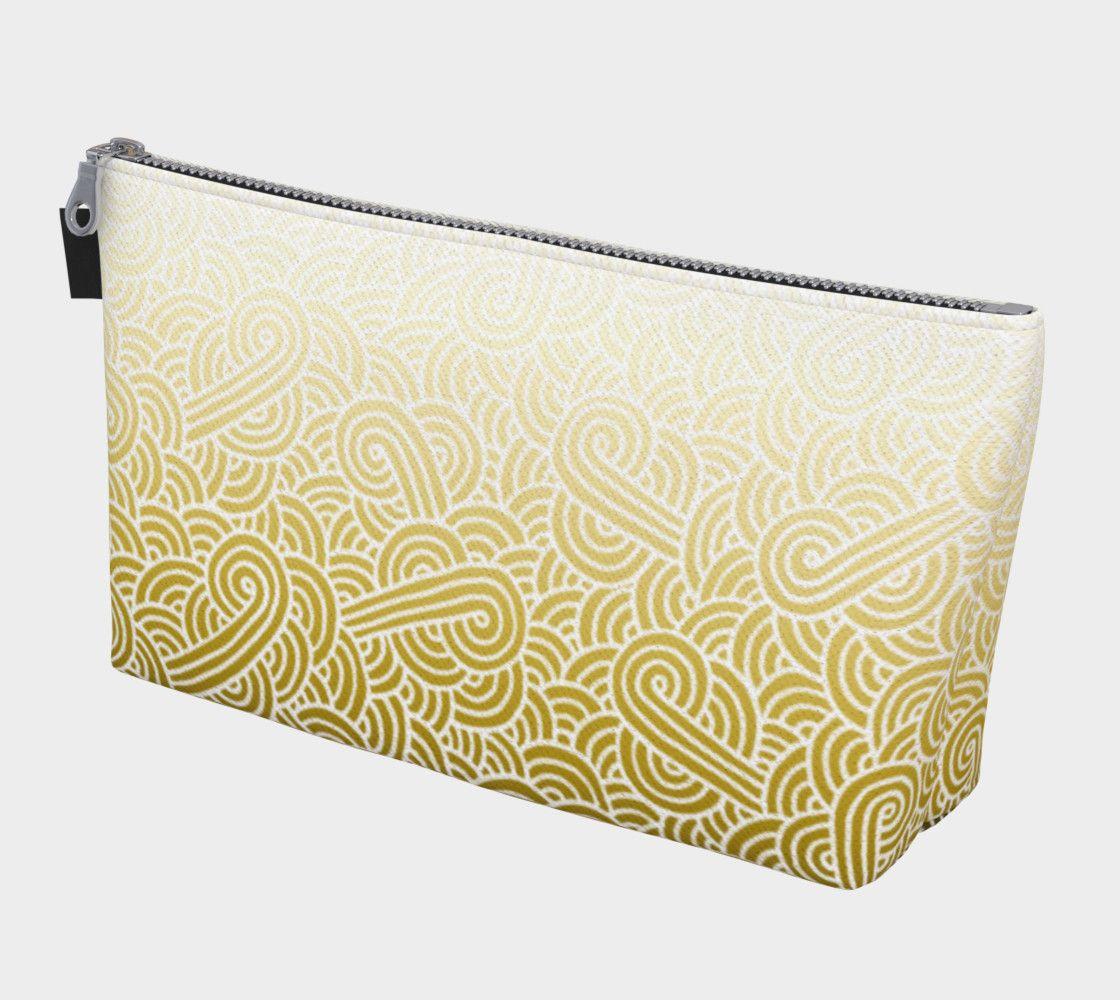 Ombré yellow and white swirls doodles Makeup Bag Makeup Bag