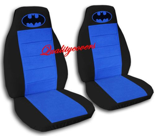 Admirable 2 Cool Car Seat Covers In Black Blue With Blue Batman High Dailytribune Chair Design For Home Dailytribuneorg