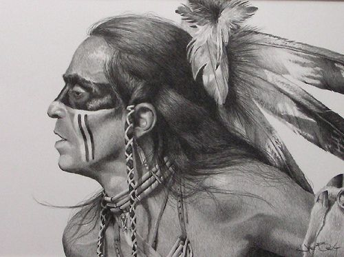 American Indian Pencil Drawings
