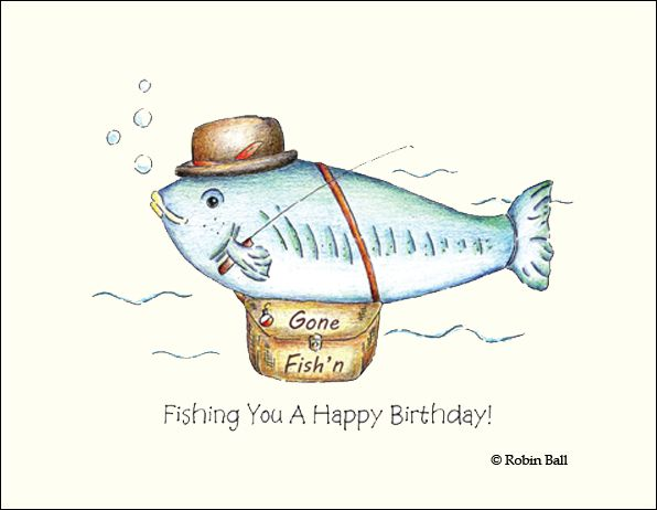 Click Here To See The Fish Birthday Card Wholesale Greeting Cards Personalised Christmas Cards Hand Drawn Cards