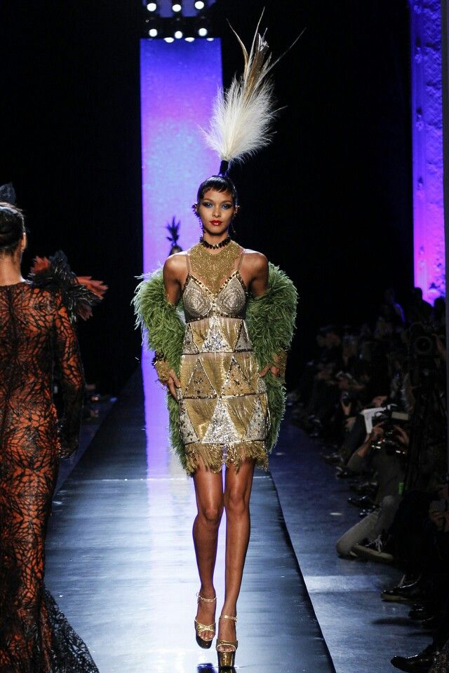 Jean Paul Gaultier Spring Summer Couture 2014 #feathers