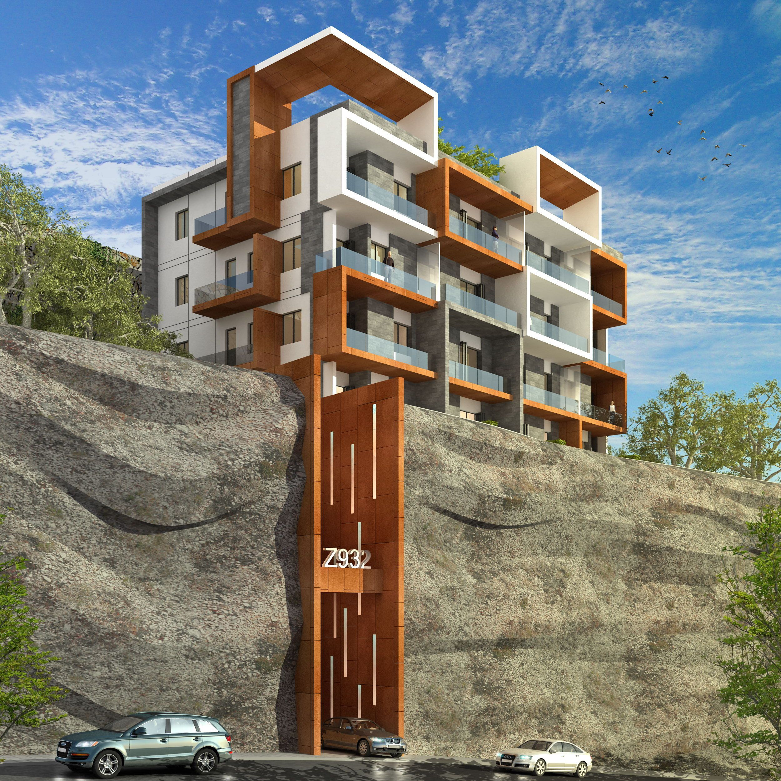 This Project Is Located On A Steep Hill In The Zalka Area A