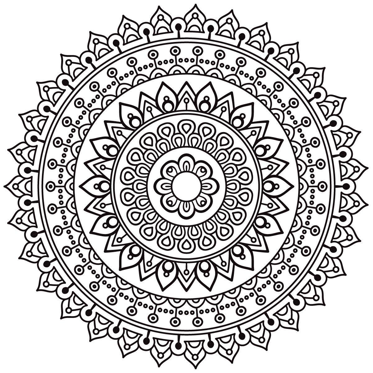 how to make a mandala stencil