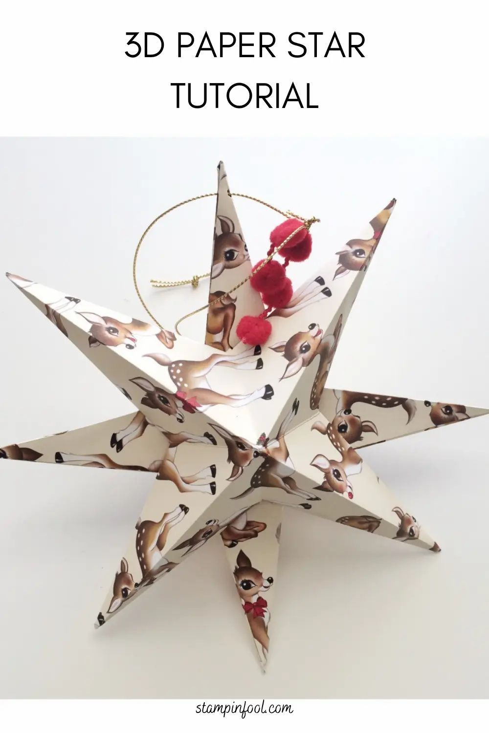 Diy 3d Paper Star Ornament Step By Step How To Ornaments Garland 3d Paper Star Ornament Tutorial Star Ornament