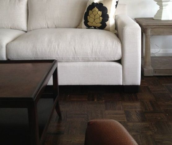 Refinishing Parquet Flooring In Small Living Room