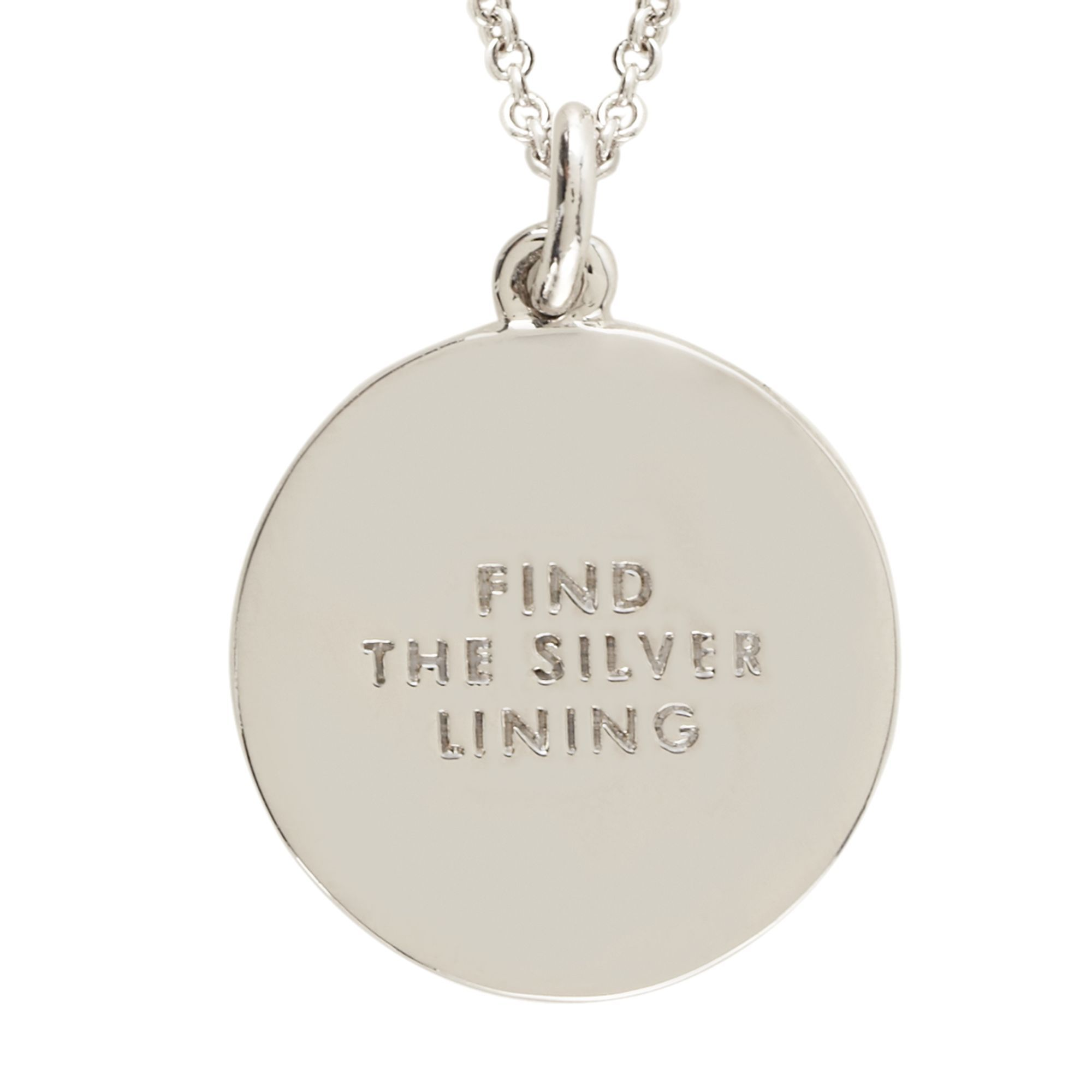 Find the silver lining idiom pendant jewels u baubles pinterest