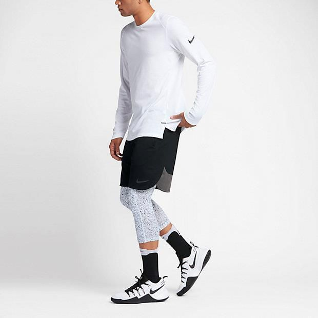 126622da9b Nike Men L 3XL Pro Hypercool 3/4 White Gray Black Tights Capris Pants  830628-100 #Nike #Leggings