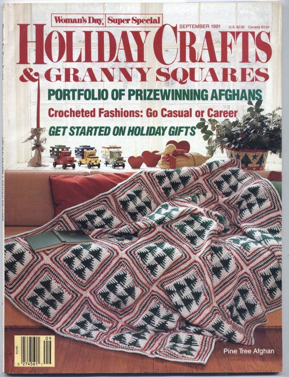 1991 Holiday Crafts & Granny Squares Magazine - Woman's Day