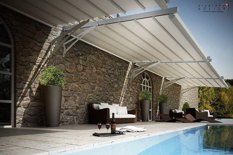 P rgola de aluminio con toldo corredero fly by tenda service projects to try pinterest - Pergolas con toldo ...